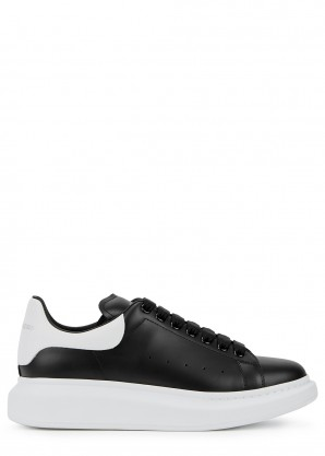 Alexander McQueen Larry black leather sneakers