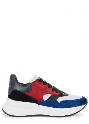 Alexander McQueen Larry suede and leather sneakers