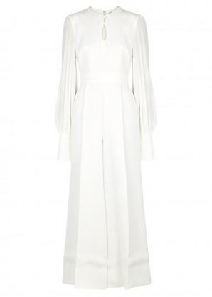 Roksanda Aunya ivory cady and silk jumpsuit