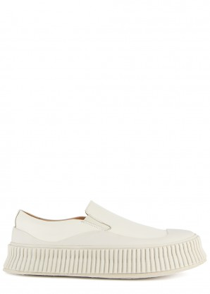 Jil Sander 40 off-white leather sneakers