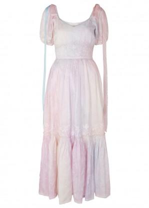 LoveShackFancy Angie tie-dye silk dress