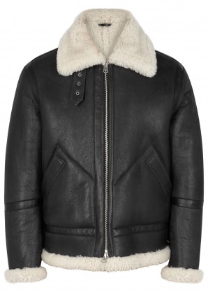 Acne Studios Ian leather and shearling aviator jacket