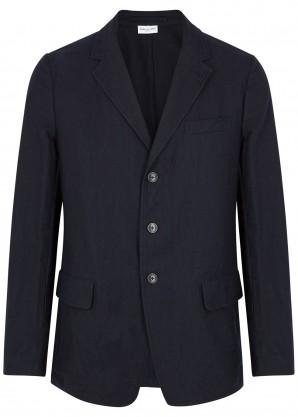 Dries Van Noten Bilbao navy cotton-blend blazer