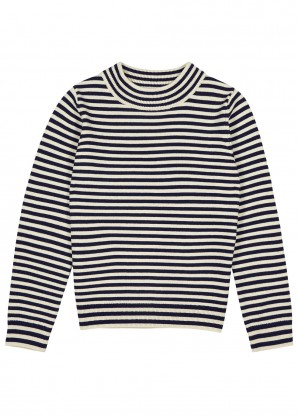 Taurus striped merino wool jumper