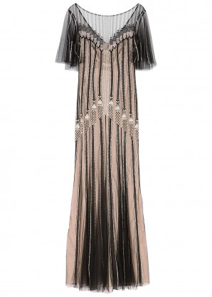 Temperley Moonlight crystal-embellished tulle gown
