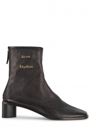 Acne Studios Bertine 50 black leather ankle boots