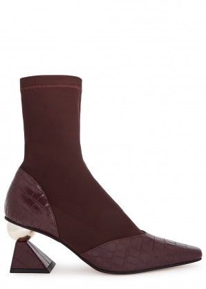 Stella 70 neoprene and leather ankle boots