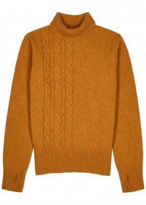 Oliver Spencer Chestnut roll-neck wool jumper