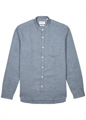 Oliver Spencer Blue cotton-blend shirt