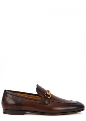 Gucci Jordaan horsebit burnished leather loafers