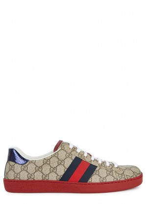 Gucci Ace GG Supreme taupe sneakers