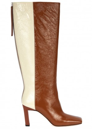 Wandler Isa 85 panelled leather knee-high boots