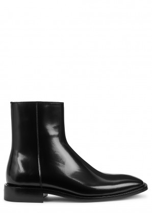 Balenciaga Black patent leather Chelsea boots