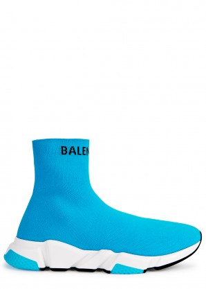Balenciaga Speed turquoise stretch-knit sneakers