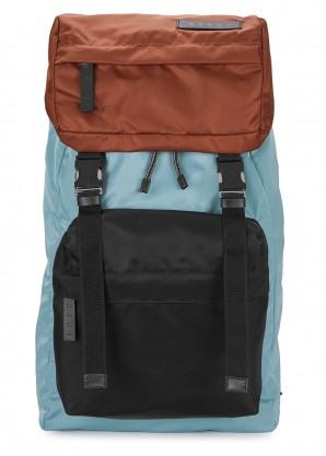 Marni Blue large nylon backpack