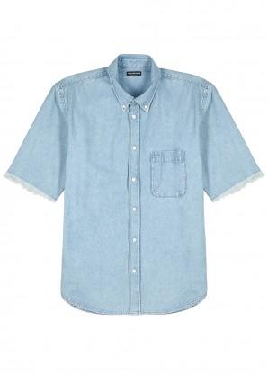 Light blue logo denim shirt