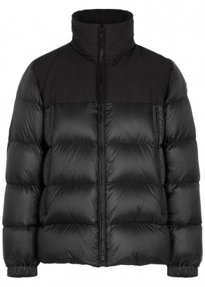 Moncler Faiveley black quilted shell coat