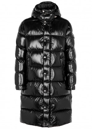Moncler Hanovarian black quilted shell coat
