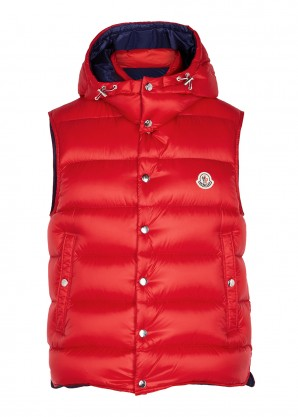 Billercart red quilted shell gilet