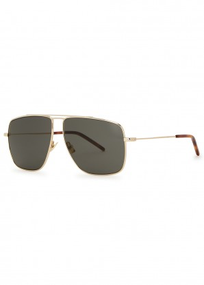 SL298 gold-tone aviator-style sunglasses
