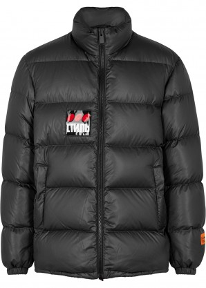 Heron Preston Charcoal quilted shell jacket