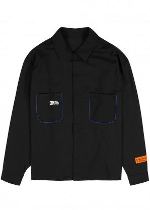 Heron Preston Black wool-blend shirt