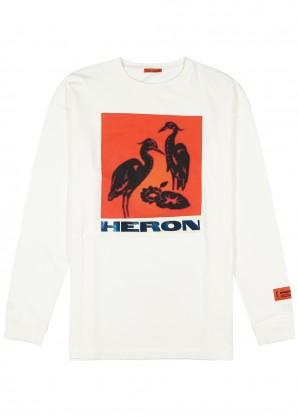 Heron Preston Off-white printed cotton top