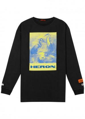 Heron Preston Black printed cotton top