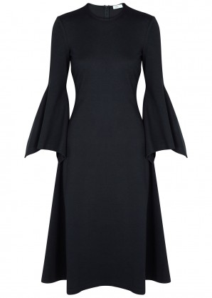 Rosetta Getty Navy stretch-knit dress