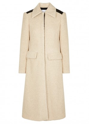 Rosetta Getty Oatmeal wool-blend bouclé coat