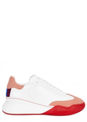 Loop white faux leather sneakers