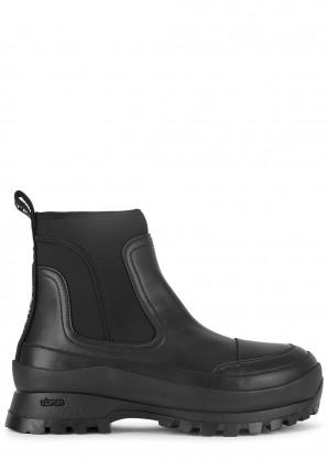 Stella McCartney Utility 40 black faux leather ankle boots