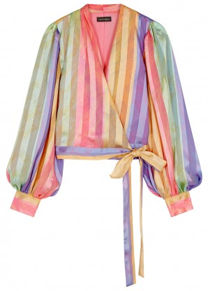 Stine Goya Glenda striped wrap blouse
