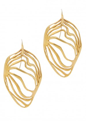 Monarch gold-tone drop earrings