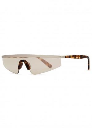 Punk tortoiseshell wrap-around sunglasses