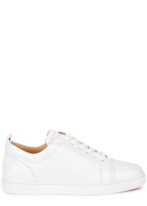 Christian Louboutin Louis Junior white leather sneakers