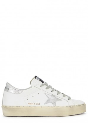 Golden Goose Deluxe Brand Hi Star white leather sneakers