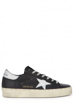 Golden Goose Deluxe Brand Hi Star black leather sneakers