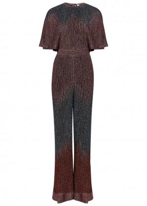 M Missoni Metallic fine-knit jumpsuit