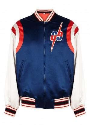 Gucci Panelled satin bomber jacket