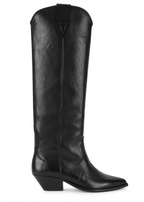 Isabel Marant Denvee 40 leather knee-high boots