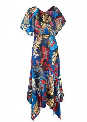 Peter Pilotto Floral-print silk midi dress