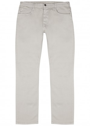 Emporio Armani J45 grey stretch-cotton chinos