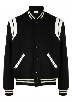 Saint Laurent Teddy wool-blend bomber jacket