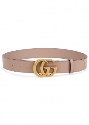 Gucci GG blush leather belt