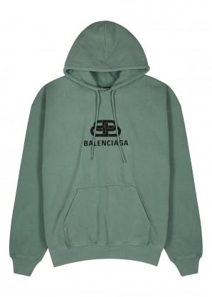 BB logo-print cotton sweatshirt