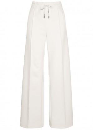 Ivory striped neoprene sweatpants