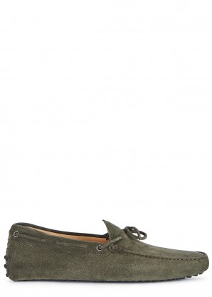Tod's Gommino grey suede driving shoes