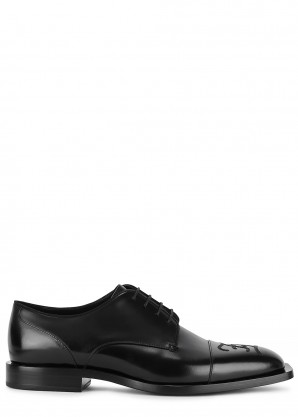 Fendi Black leather Oxford shoes