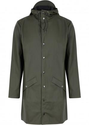 Rains Army green rubberised raincoat